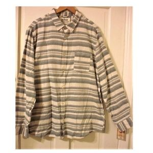 URBAN PIPELINE Men's 2XL Gray Striped Shirt NWT